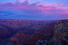 Solnedgång över grandet Canyon Arkivfoto