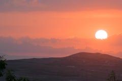 Solnedgång över Haiti Royaltyfria Foton