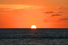 Solnedgång över havet, Key West, Florida Royaltyfri Bild