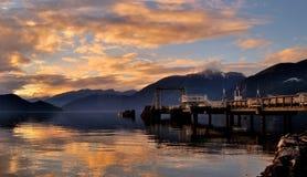 Solnedgång över Howe Sound Royaltyfria Foton