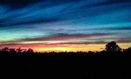 Solnedgång över kentucky arkivfoton