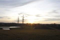 Solnedgång över Kloosterveen Arkivbilder