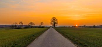 Solnedgång över Koengen Royaltyfri Foto