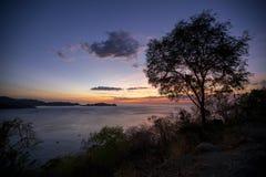 Solnedgång över Manila, Filippinerna Arkivbild