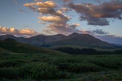 Solnedgång över monteringen Bierstadt Arkivfoton