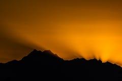 Solnedgång över OS:er Royaltyfri Foto