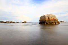 Solnedgång över Pantai Balok Kuantan Pahang Royaltyfria Bilder
