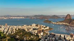 Solnedgång över Rio de Janeiro Moving Time Lapse lager videofilmer