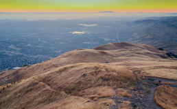 Solnedgång över Silicon Valley Royaltyfria Foton