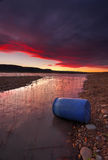 Solnedgång över sjön Burralow Penrith Arkivbilder