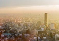 Solnedgång över Tokyo Royaltyfria Bilder