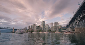 Solnedgång över Vancouver 2 Royaltyfri Foto