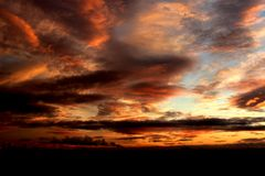 Solnedgång över York Arkivfoton