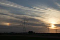 Solnedgång över Zeeland Royaltyfria Bilder
