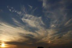 Solnedgång över Zeeland Arkivbilder