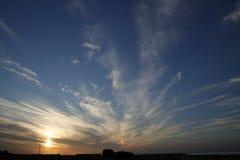 Solnedgång över Zeeland Royaltyfri Bild