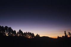 solnedgång royaltyfria foton