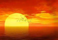solnedgång stock illustrationer