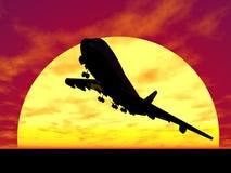 solnedgång vektor illustrationer