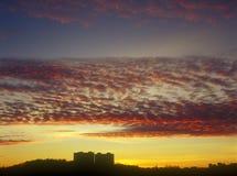 Solnedgång. Fotografering för Bildbyråer