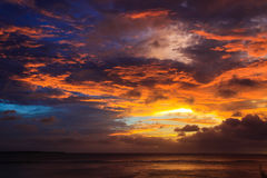 Solnedgång. Royaltyfri Foto