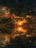 solnedgång royaltyfri illustrationer