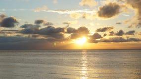 Solnedgång. Arkivbild