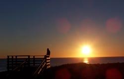 solnedgång 4 Royaltyfri Fotografi