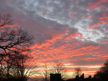 Solnedgång 018 Arkivfoto