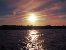 solnedgång 3 Royaltyfri Fotografi