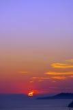 Solnedgång 49 Arkivbild