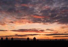 solnedgång 5 Royaltyfri Fotografi