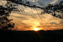 solnedgång 5 royaltyfri foto