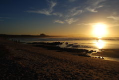 Solnedgång in Arkivbild