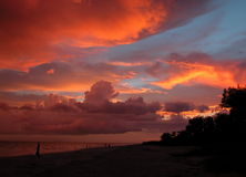 solnedgång Arkivbilder