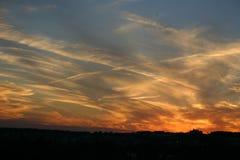 solnedgång 6 arkivbild