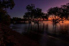 solnedgång 1770 Royaltyfri Bild