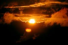 solnedgång 2 arkivbilder