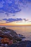 solnedgång 9 Arkivfoto