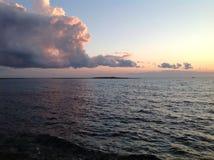 Solnedgång Arkivfoton
