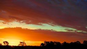 Solnedgång Australien Royaltyfri Fotografi