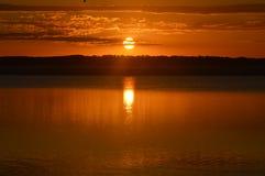 Solnedgång Australien Arkivfoton