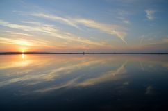 Solnedgång Australien Arkivfoto