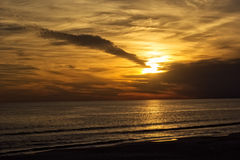 Solnedgång av golfen av Mexico Fotografering för Bildbyråer