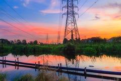 Solnedgång av hög spänning Royaltyfri Fotografi