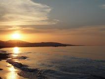 Solnedgång av kalkon royaltyfri bild