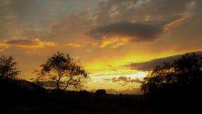 SOLNEDGÅNG AV LA TORRE-Andalusia-Spanien-Europa för SPRING-ALHAURIN DE Fotografering för Bildbyråer