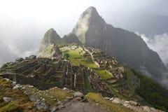 Solnedgång av Machu Picchu Arkivfoton