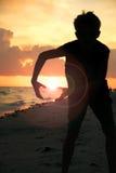 Solnedgång Baller Arkivfoto