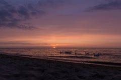 Solnedgång baltiska 13 Royaltyfri Fotografi